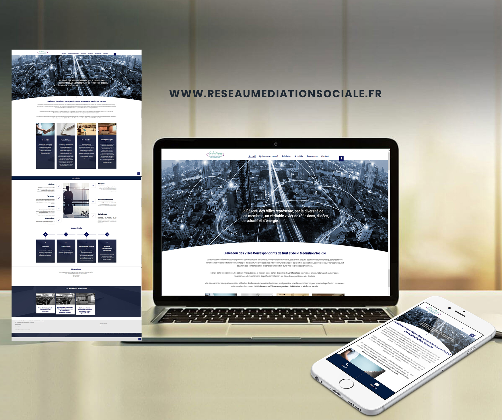 Site Web Réseau des Villes et de la Médiation sociale